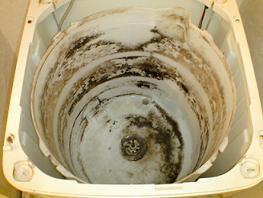 洗濯機クリーニング内部洗浄前